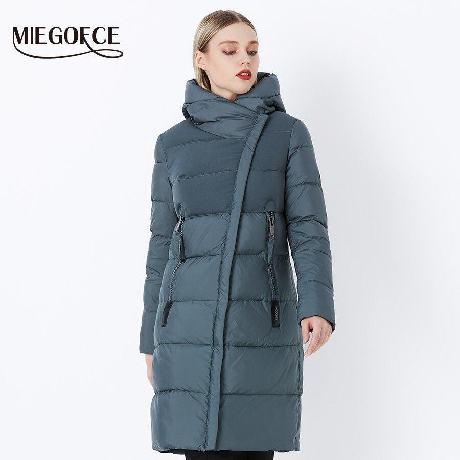 Miegofce 2019 겨울 여성 자켓 코트 방풍 따뜻한 여성 파카 짙은 면화 패딩 여성 자켓 브랜드 뉴 컬렉션-에서파카부터 여성 의류 의  그룹 3