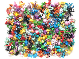192 Pieces All Different New Collection Dolls Action Pokemonal Toy Figure Model 2.5cm-3cm Small Size Cartoon Toys