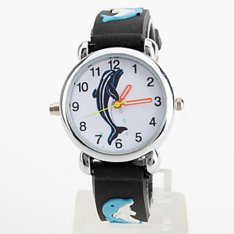 Нов LED Колоритен мигащ силиконов акула Dial детски часовник часовник часовник Baby Boy момиче Relogios