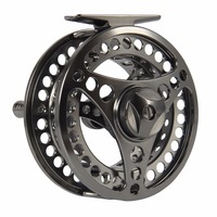3/4 5/6 7/8 9/10WT CNC Machined Aluminum Fly Reel Silver Large Arbor Fly Fishing Reel with Reel Bag