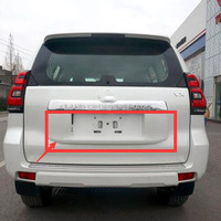 OE ABS Rear License Frame Plate Cover with Painting For Toyota Land Cruiser Prado LC150 Accessories 2018 2019|Chromium Styling| |  -
