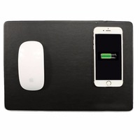 SIKAI New Arrive QI Wireless Charging Mouse Pad PU Leather Wireless Charger For Iphone 8 Plus