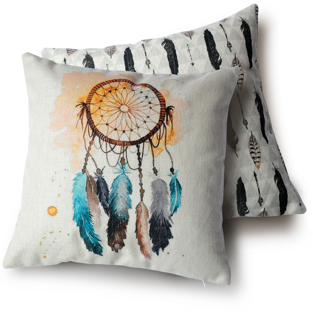 Wholesale Double sided Decorative Pillows high quality feathers ...