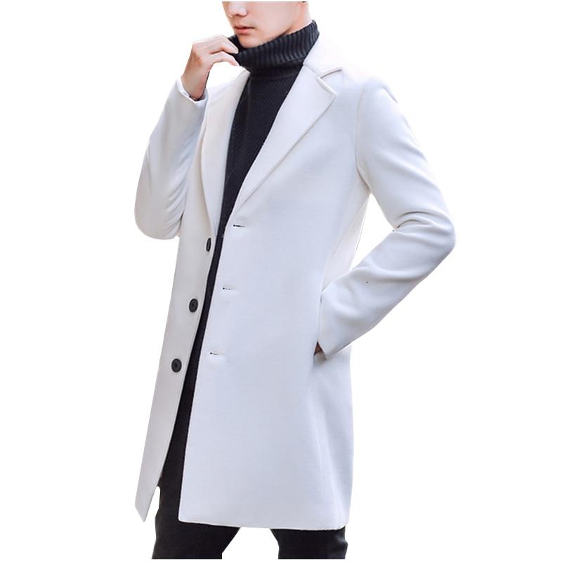 Bonne Qualité Hommes Manteau D'hiver Vestes Hommes Outwear Long Vestes Nouveau mode Mâle Occasionnel Tranchée Grand S Vers Le Bas Vestes Taille S 5XL