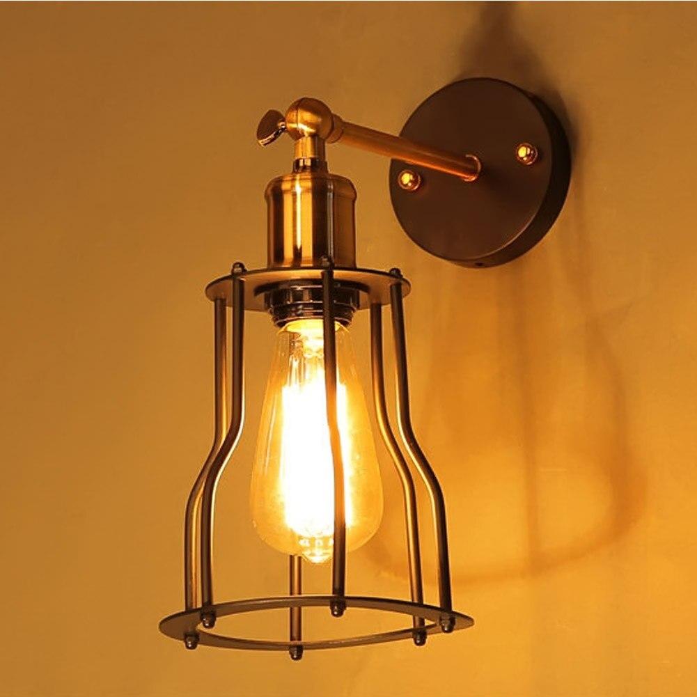Creative industrial lamps - American Retro Rustic Industrial Loft Style Restaurant Bar Nightclub Creative Personality Iron Shelf Wall Sconce Lamps