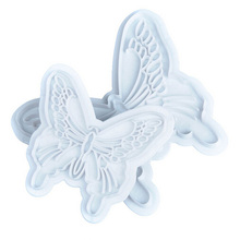 ISIX 2pcs Set Butterfly Cake Fondant Sugarcraft Cookie Decorating Cutters Mold Tool