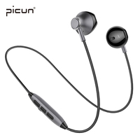 New Sports In Ear Earphone Bluetooth Earbuds With Mic Wireless Picun Earpieces Stereo Magnetic Kulakl K