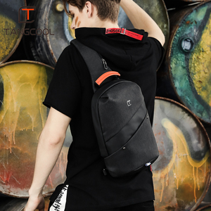 Image 5 - Erkekler askılı çanta Moda Rahat Göğüs Çanta Paketi Anti Hırsızlık Omuz Crossbody çanta Genç seyahat çantası uygun cep telefonu çantası