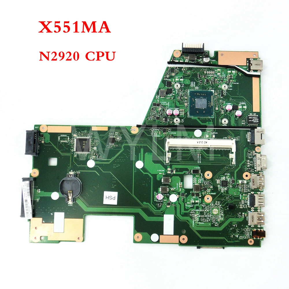 free shipping X551MA With N2920 CPU mainboard REV 2.0 For ASUS X551MA X551M Laptop motherboard MAIN BOARD 60NB0480-MB1500-206 free shipping 1225b mainboard rev 2 1 for asus 1225 1225b laptop motherboard main board 100