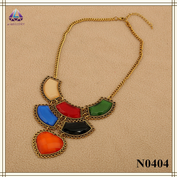 d1787f8e4 Free Shipping Factory Hot Sale Handmade Popular Fashion Gold Jewellery  Designs Necklace With Stone For Women