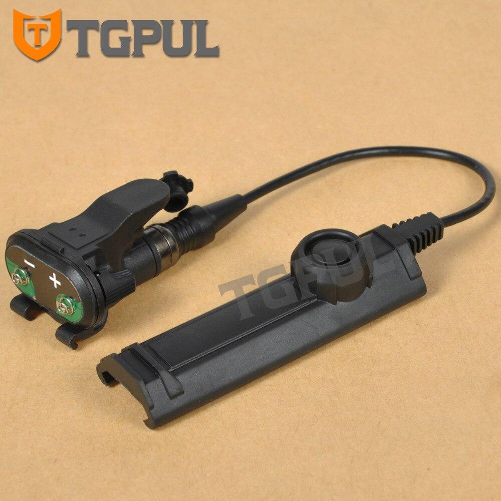 TGPUL Tático Montagem Interruptor de Controle Remoto Dupla Para X300 X400 X-Série Constante/Momentary Controle Lanterna Interruptor Fita Acessórios