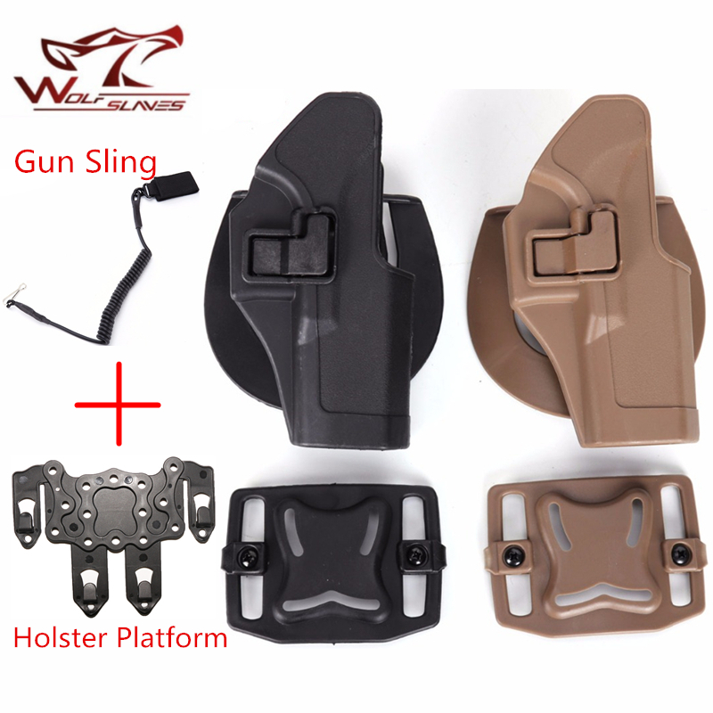 Tactical Airsoft Pistol Glock Holster With Gun Sling MOLLE Adapter Magazine Pouch Waist Gun Holster For Glock 17,19,22,23,31