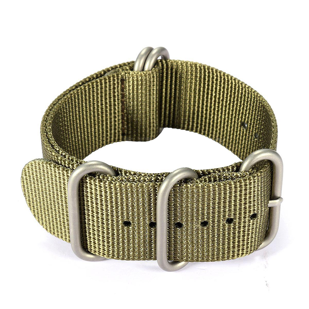 For Smart Watch Sports Nylon Watch Band Wrist Strap Bracelet, Army Green