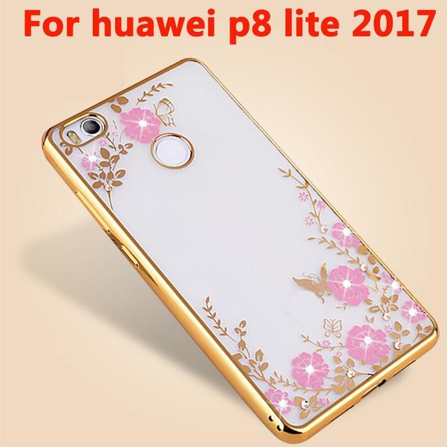 Diamants Rose Conception Tpu Cas Pour Huawei P9 Lite TuhFjA6