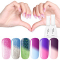 Azure Newest Color Nail Gel Polish Thermal Temperature Changing Color UV Gel Nail Polish Soak Off Led UV Nail Gel Lacquer 12ML