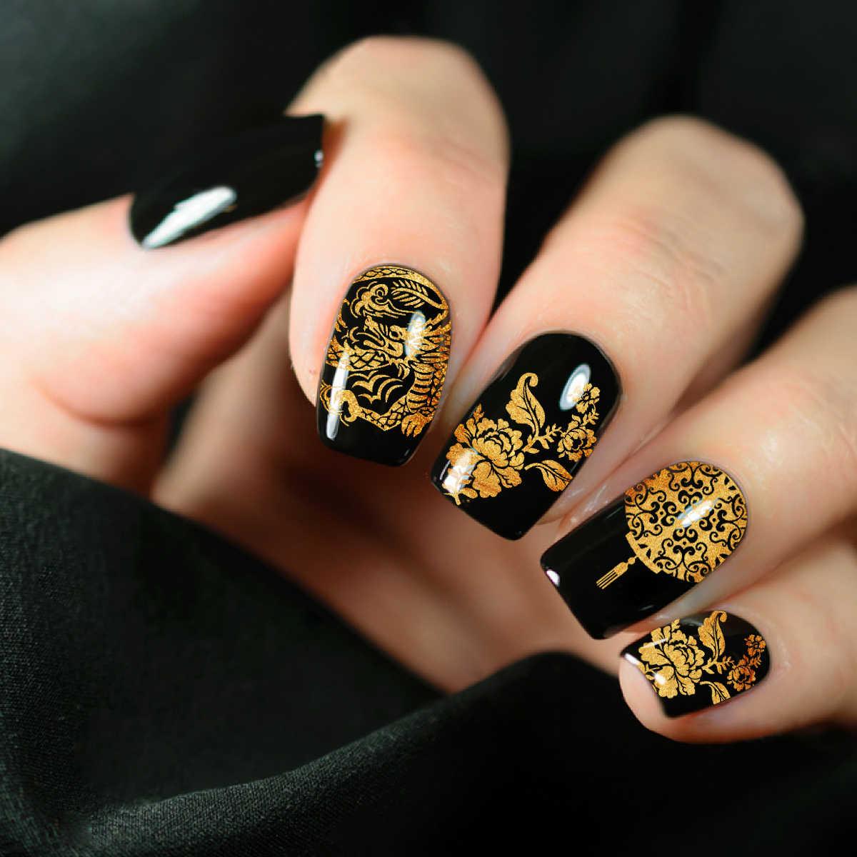 6*12cm placas de estampado de uñas personaje chino máscara de la ópera elementos de la imagen del mundo de la plantilla de uñas estampado de Arte de uñas plantilla