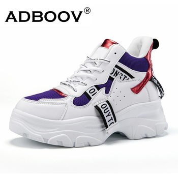ADBOOV New Fall Winter Fashion Women Shoes PU Leather Platform Sneakers Women Ladies Trainers Casual Shoes Scarpe Donna Сникеры