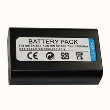 1000mAh EN-EL1 Battery Pack For Nikon Coolpix 500 775 880 885 990 995 4300 4500 4800 5000 5400 5700 8700 Camera Battery