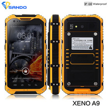 Original A9 IP68 A8 V9 Waterproof Shockproof Rugged Phone MTK6582 Quad Core Android 4.4 2GB RAM 16GB 3G GPS 8.0MP Mobile Phone