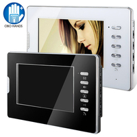 Wired Video Door Phone Door Monitoring System 7 Color HD Indoor Unit Monitor For Home Apartments