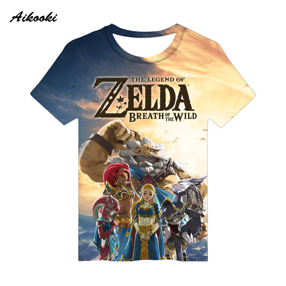 Aikooki The Legend of Zelda 3D T-shirt Men / Women Cotton Tshirt 3D Print Breath of the Wild Boys/ Girls T Shirt Streetwear Tops front ensemble shirt ideas
