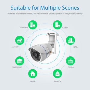 Image 2 - 720P IP Camera Wireless Wifi network Surveillance Camera Outdoor Waterproof Compatible with Alexa Echo Show and Google Home