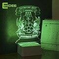 3D Lámpara de Escritorio Mesa de Noche de Luz Led 7 Que Cambia de Color como Decoración Lamparas de Estudio Led Escritorio para Los Aficionados Al Fútbol de Conventry