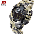 TTlife Brand Watch Men Waterproof Sports Running Military Watches Men's Luxury Analog Quartz Digital Fashion Watch 2016 New