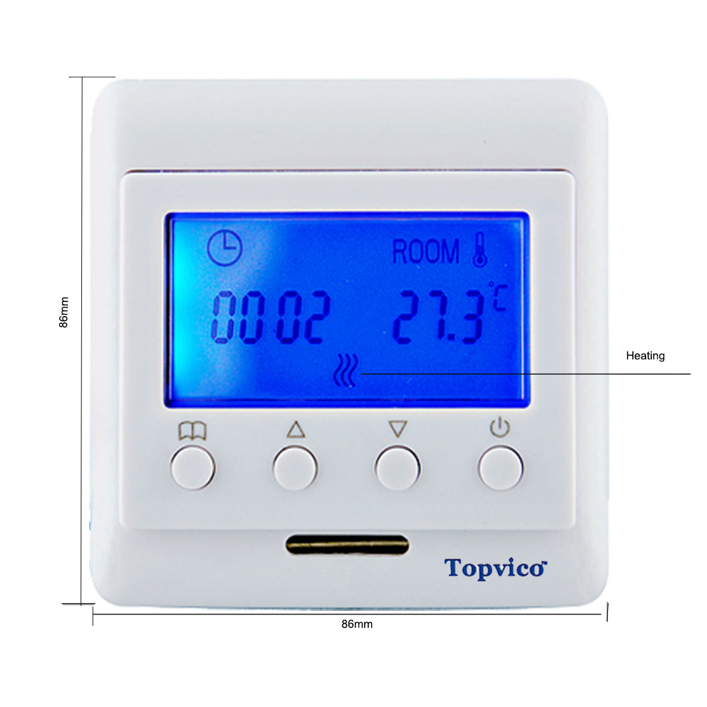 Topvico Z Welle Plus Thermostat Fußbodenheizung Control Drahtlose ...