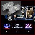 2 шт. двери Автомобиля свет LEXUS ES LS LX RX GX проектор лампы СВЕТОДИОДНЫЕ лампы добро пожаловать 3d Призрак Тень свет двери логотип Свет нет дрель