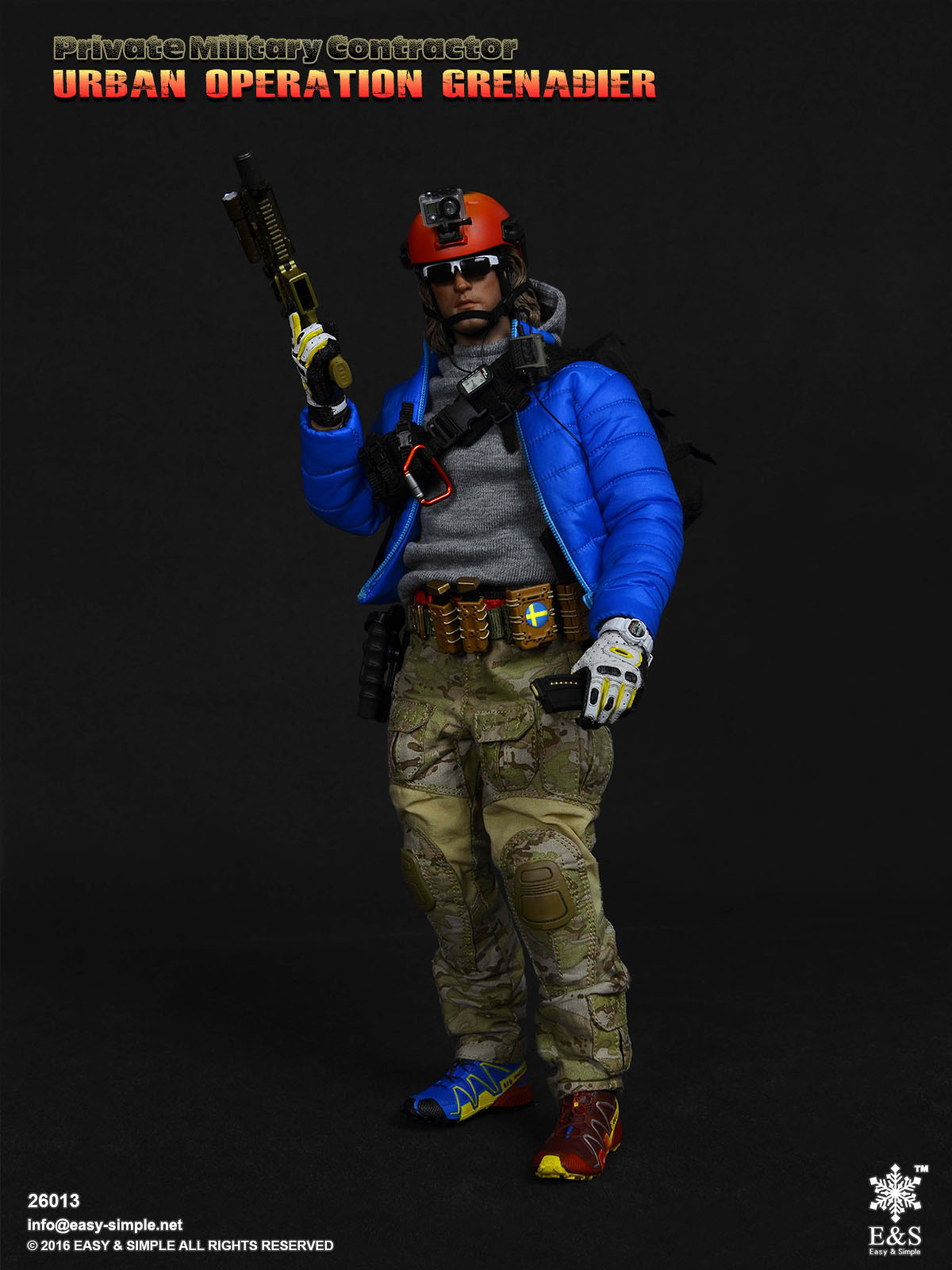 "Easy/&Simple ES 26013 1//6 PMC UOG Urban Operation Grenadier 12/"" Figure Body Hands"