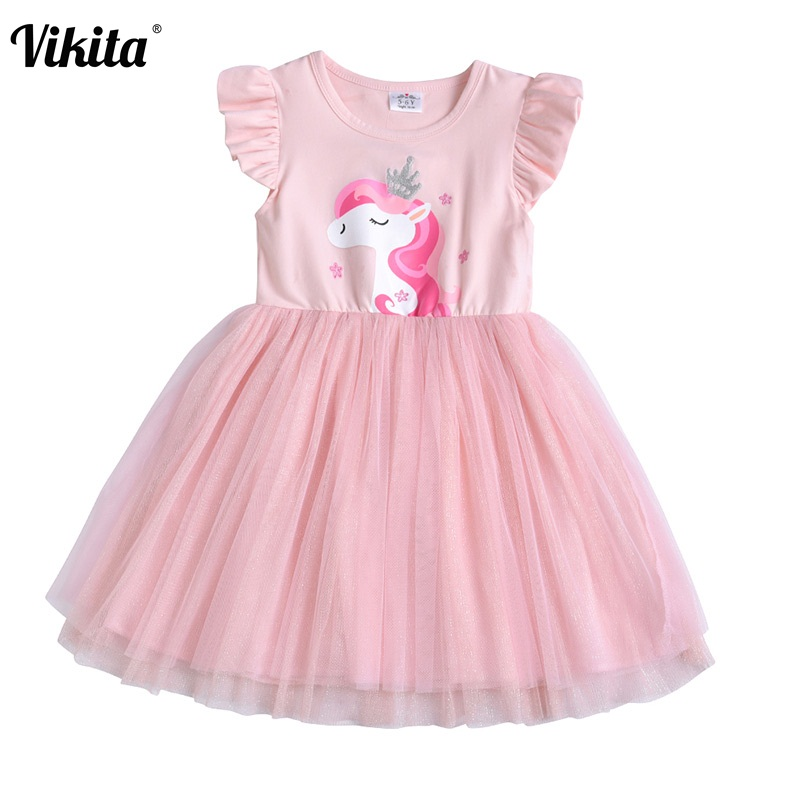 VIKITA Toddlers Summer Dresses Girls Pink Tutu Dresses Children Birthday Party Wedding Costumes Girls Unicorn Butterfly DressVIKITA Toddlers Summer Dresses Girls Pink Tutu Dresses Children Birthday Party Wedding Costumes Girls Unicorn Butterfly Dress