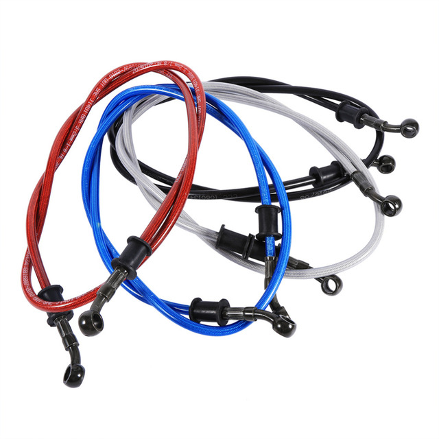 TOPS 50cm - 120cm Motorcycle Braided Steel Brake Clutch Oil Hose Line Pipe Colorful Fit ATV Dirt Pit Bike Brake Clutch Line Pipe