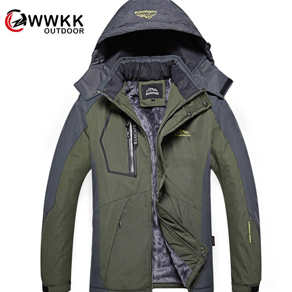 Homme extérieur veste épaisse une pièce Plus velours froid Version personnalisée Ski alpinisme aventure neige veste hydrofuge vieux