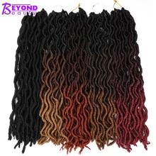 Nu эффектом деграде(переход от темного к Faux Locs Curly волнистые волосы, на крючках, косички, 20 дюймов мягкая страх в богемном стиле Locs Синтетические пряди для наращивания волос 24 корня/пакет