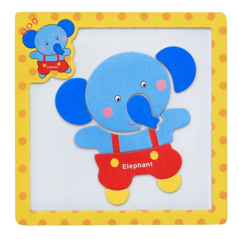 2017 Wooden Magnetic Puzzle Educational Developmental Baby Kids Training Toy Puzzles Toys Brand New High Quality May 26