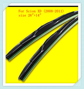 "3 Section Rubber windshield wiper Blade For Scion XD (2008-2011),size 26""+14"""