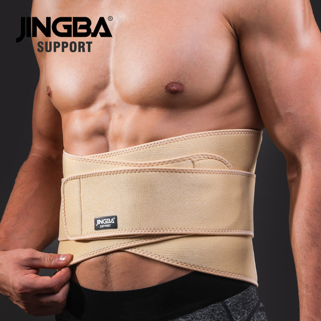 JINGBA SUPPORT mens waist trimmer Weight Loss slimming belt neoprene fitness belt back waist support Sweat belt waist trainer 2