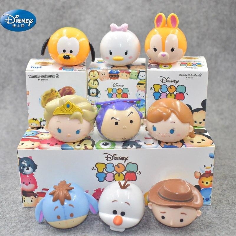 9 Pcs/lot Frozen Elsa Winnie Action Dolls Kids Stitch Toy Figures About 4 Cm Toys & Hobbies