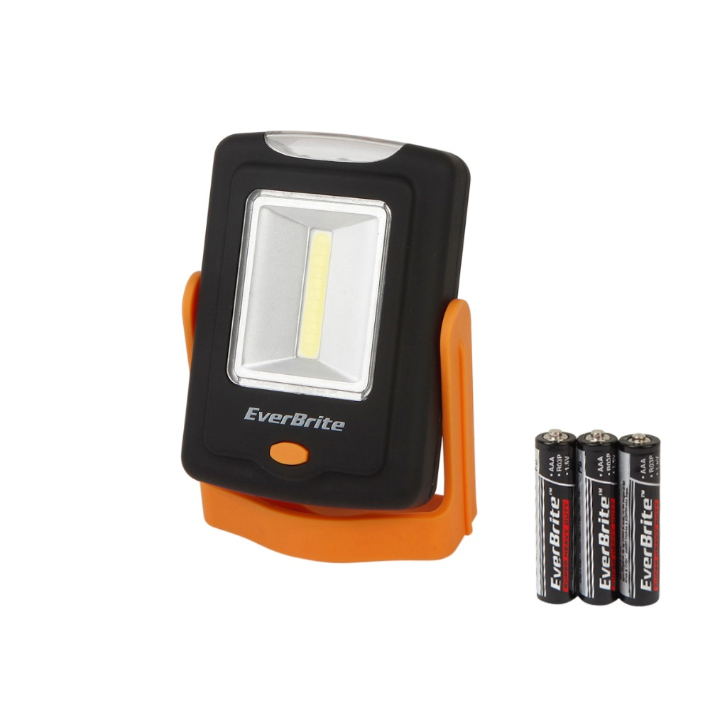 Everbrite 2 in 1 Portable COB LED Work Light Multifunctional Emergency Camping Lamp Lights LED Magnetic Folding Hook Lantern