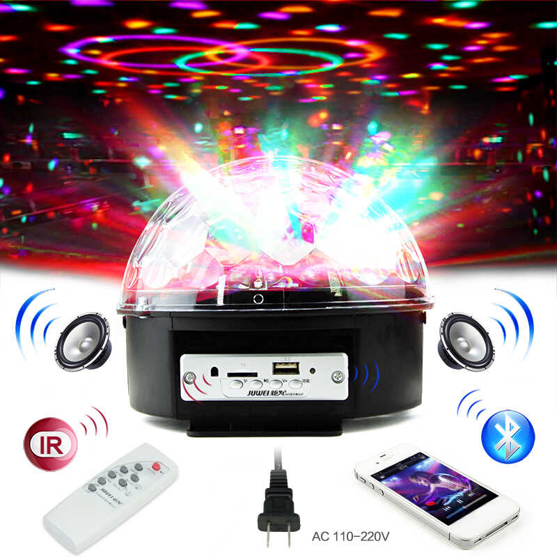 Voice Control Bluetooth MP3 Player Crystal Magic Ball Remote Control 6 Colors Digital RGB Disco Balls Lights Stage Light