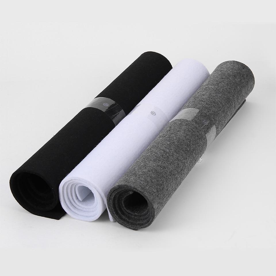 5 MM Kalın Keçe Kumaş 45X90 CM Saf Katı Beyaz Siyah Ve Koyu Gri Dokunmamış Kumaş Levha DIY Keçe Çanta Sanat ve El Sanatları
