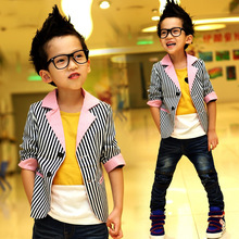 Free transport Autumn/Spring youngsters's clothes boys leisure striped swimsuit youngsters's clothes