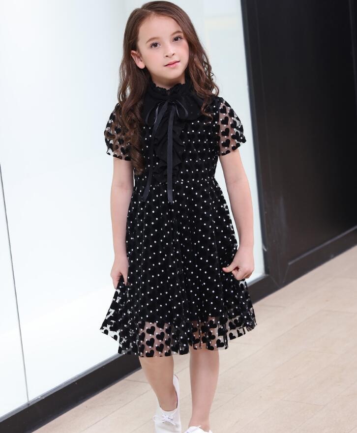 Black Girl Fashion 2019: Girls Dresses 2019 Teens Girl Summer Fashion Black Dots