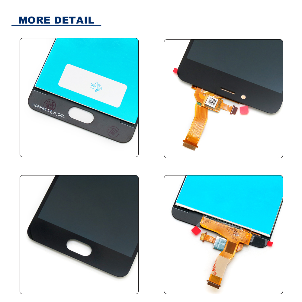 For Meizu M5C LCD Display Touch Screen with Frame Replacement 5 0 inch Assembly for Meizu M5C A5 Display Screen Black White in Mobile Phone LCD Screens from Cellphones Telecommunications