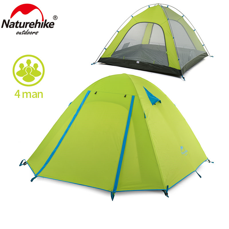 NatureHike P Series Classics Tent 210T Fabric For 4 Person NH15Z003-P specialized p series минск