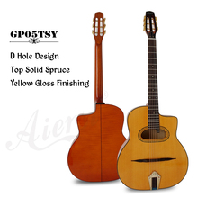 Aiersi Brand Figured Maple Grande Bouche Selmer Django Manouche Acoustic Gypsy Jazz Guitar Free case and shipment