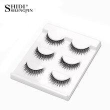 SHIDISHANGPIN 3 Pairs False Eyelashes Synthetic Hair Makeup Wispy Lashes Make Up Lash Natural Eyelash maquiagem