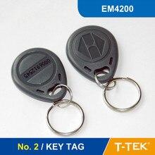 НЕТ. 2 RFID Ключевые Теги, RFID Брелок для контроля доступа, RFID Тег, RFID Токен EM4200 Chip бесплатная доставка