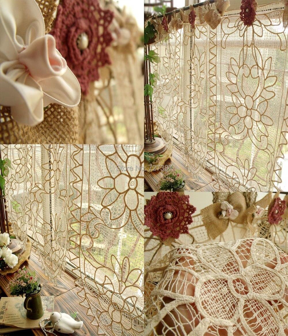 Saia de renda vintage personalizado pano de cortina de for Cortinas vintage